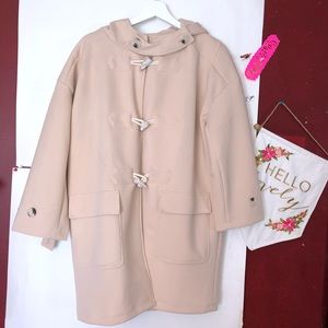Small woman coat with hood
